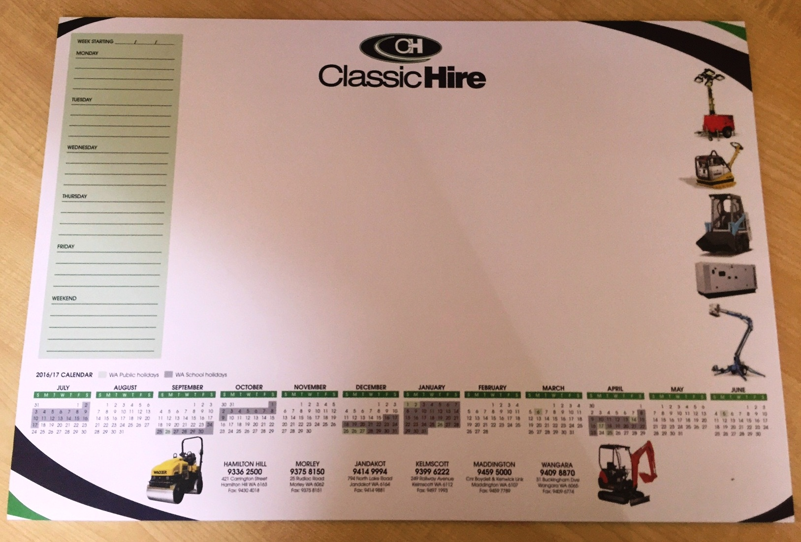 Custom Deskpad Printed by G Force Printing Perth