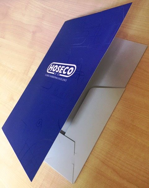 Custom printed presentation folder with interlocking flaps - G Force Printing Perth
