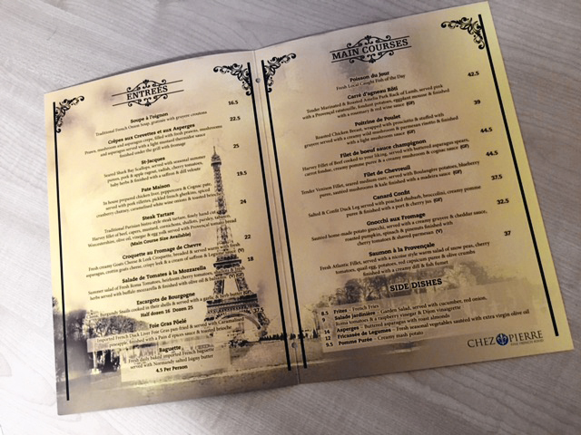 Restaurant Menus by G Force Printing