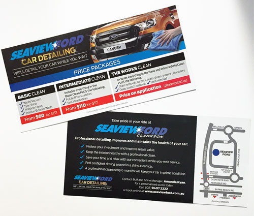 DL Double Sided Flyer Full Colour Offset Printed - G Force Printing Perth