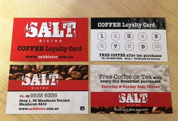 Loyalty cards - printed full colour both sides - G Force Printing Perth